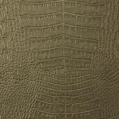 Ecopelle coccodrillo oliva scuro L8